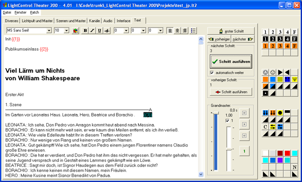Screenshot Textbuch